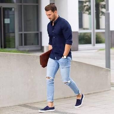 Resultado de imagen para combinacion de camisas y jeans hombres