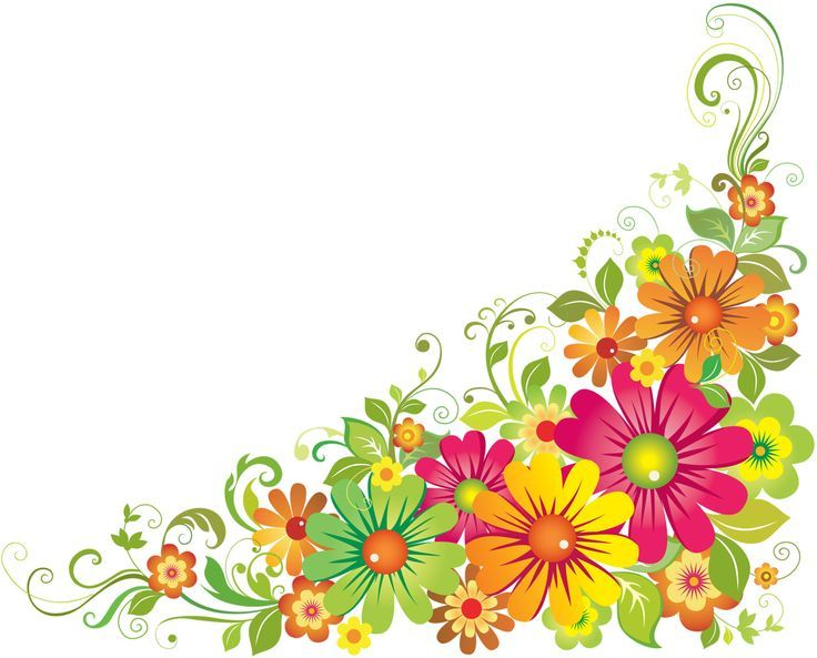 Horizontal Flower Border Clipart