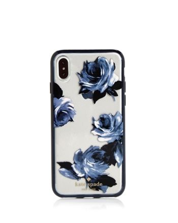 kate spade new york Night Rose iPhone X Case  – Navy Multi/Silver – Bloomingdale's