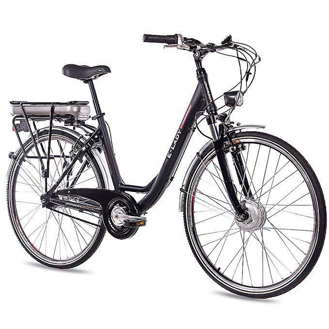 Chrisson 28 Zoll E Bike Trekking Und City Bike Fur Damen E Lady Schwarz Mit 7 Gang Shimano Nexus Nabenschaltung E Bike Trekking Pedelec Mountainbiken Frauen