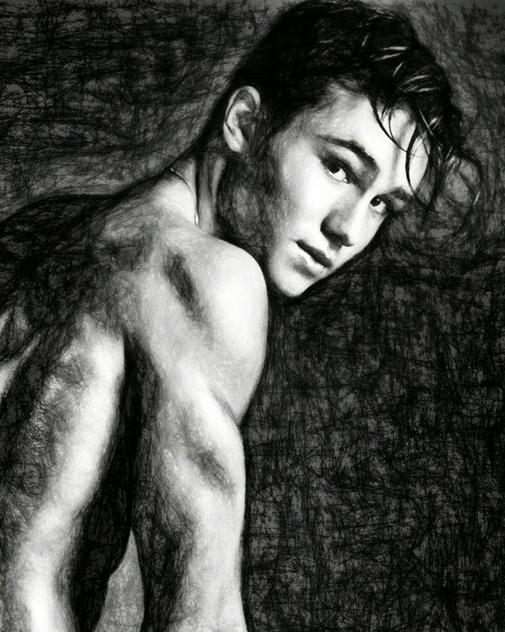 Male Art Gay Art: Notice me - Enzo Carini - Gay Boy Art Drawing