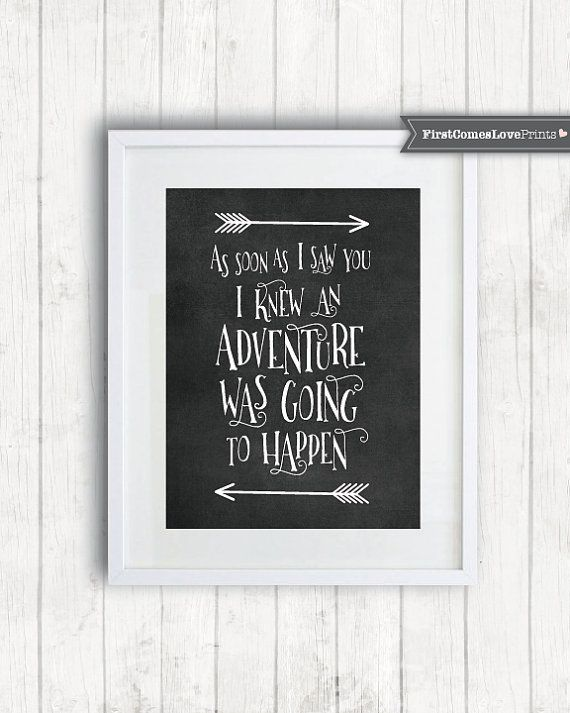 Adventure Quote for Nursery As Soon As I by FirstComesLovePrints