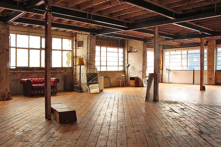 Wood Floor Loft Brick Home Interior Interior Spaces