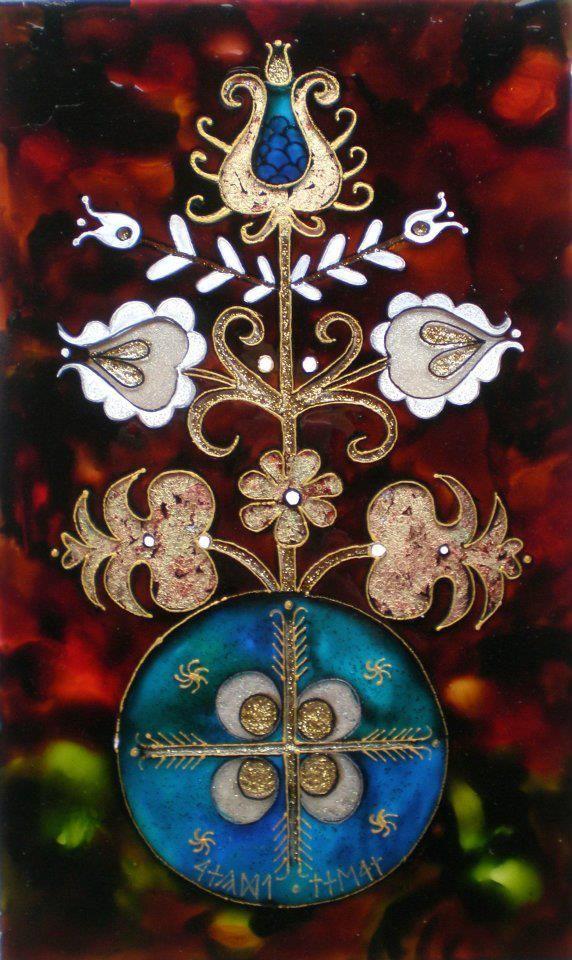 Dávid Júlia festőművész honlapja | Galéria | Üvegkompozíciók