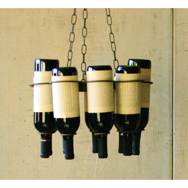24 best uncork and unwind images on pinterest wine bottle glasses recycle those bottles you finished off by yourself by turning them into a chandelier cool wine racksrustic aloadofball Images