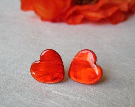 Lovely heart earrings!: Earrings Valentines, Handmade Italian, Heart Jewelry, Cuor Heart Lov, Heart Earrings, Italian Jewelry, Valentines Jewelry, Red Hearts, The Roller Coasters