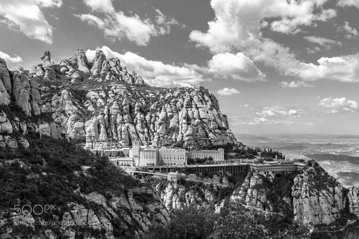 April 27th Montserrat! - This is a repost (now in b&w) for a photo I already posted... But I repost for a reason... http://ift.tt/2oSHHyd Montserrat mountains and Montserrat abbey. The thing is... On April 27th it's my birthday and it's also the day on the calendar to celebrate Montserrat's day the patron saint of Catalonia. Being born on this special day instead of giving me the name of Teresa my parents decided me to name me Teresa-Montserrat. Not bad!! :) So I thought that all this…