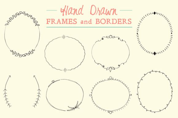 Hand Drawn Frames and Borders on Creative Market