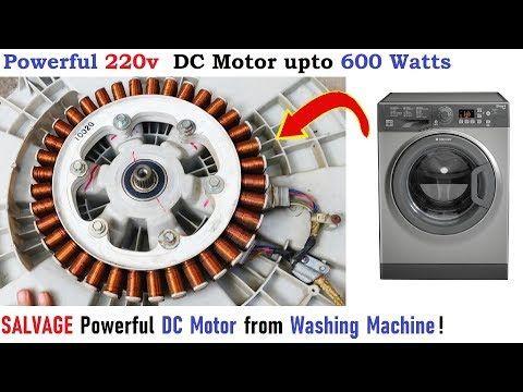 Motor De 220v Dc Desde Lavadora Hasta 600w Diy Salvage Outrunner Bldc Motor Trash To Treasure You Washing Machine Motor Washing Machine Alternator Repair