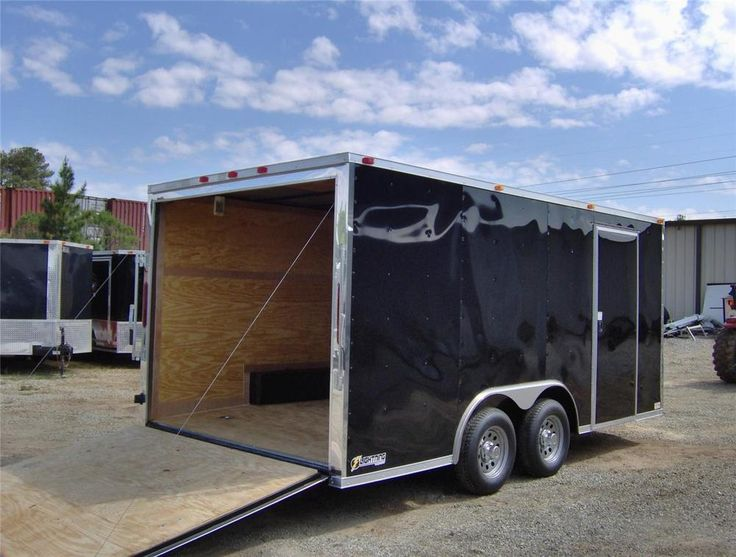 "8.5x16 2ft v 18"" insd  enclosed car hauler cargo motorcycle trailer NEW toy hauler - $3,825.00"