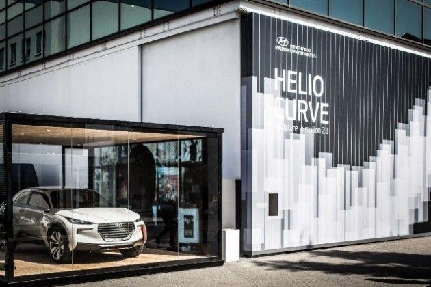 Milan Design Week 2015 Hyundai's Helio Curve Art Installation Intrado