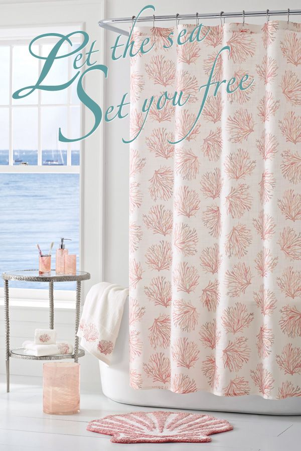 Transform Your Bathroom Into A Coral Reef With This Coastal Shower