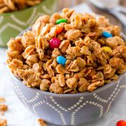 Honey Roasted Peanut Butter Trail Mix Granola