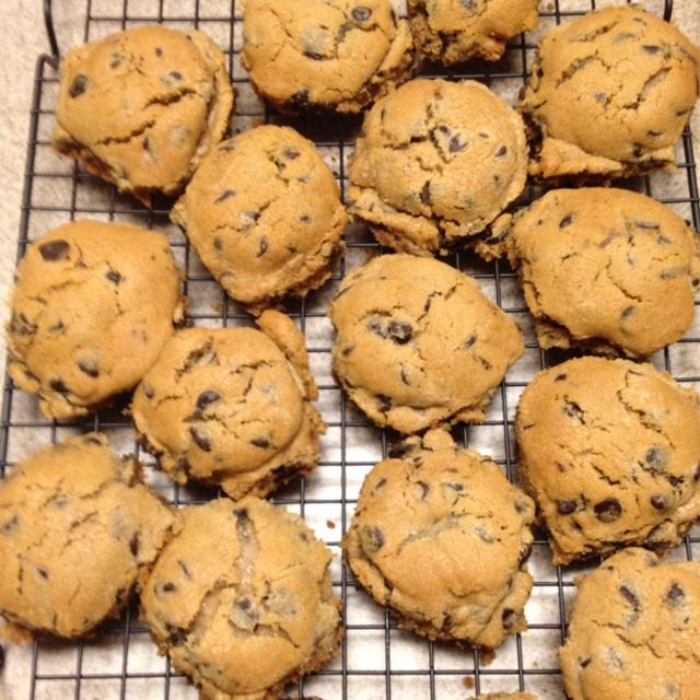 Oreo stuffed chocolate cookies.. Deadly but good