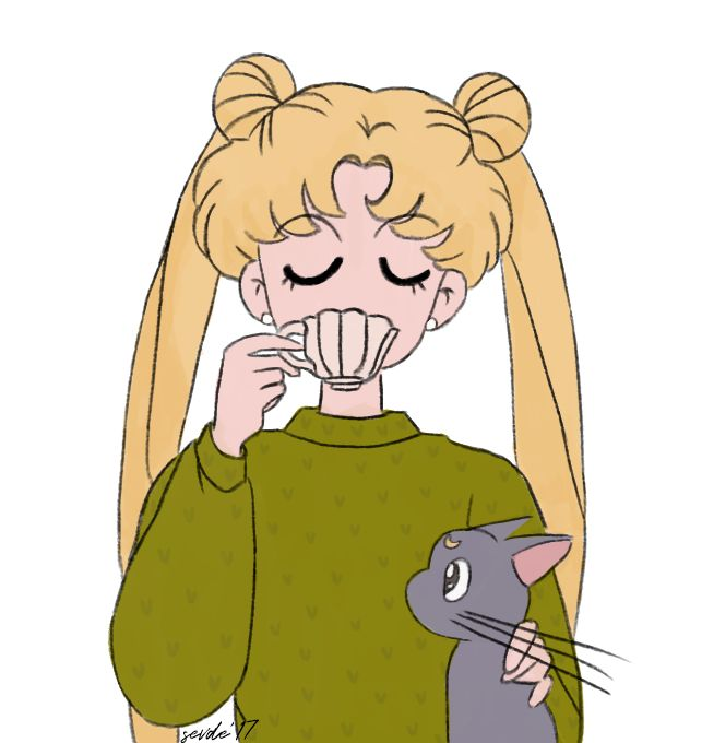 #usagi #sailormoon #cartoon #90s #aysavaşçısı #art #illustration #anime #manga #illustrator #cute #çizim #sketch