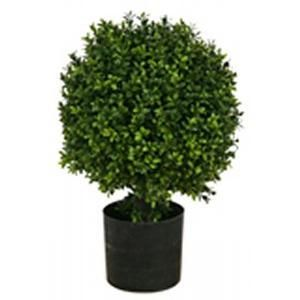 One 20 Inch Outdoor Artificial Boxwood Topiary Ball Bush Potted Silk Tree Warehouse Company Inc