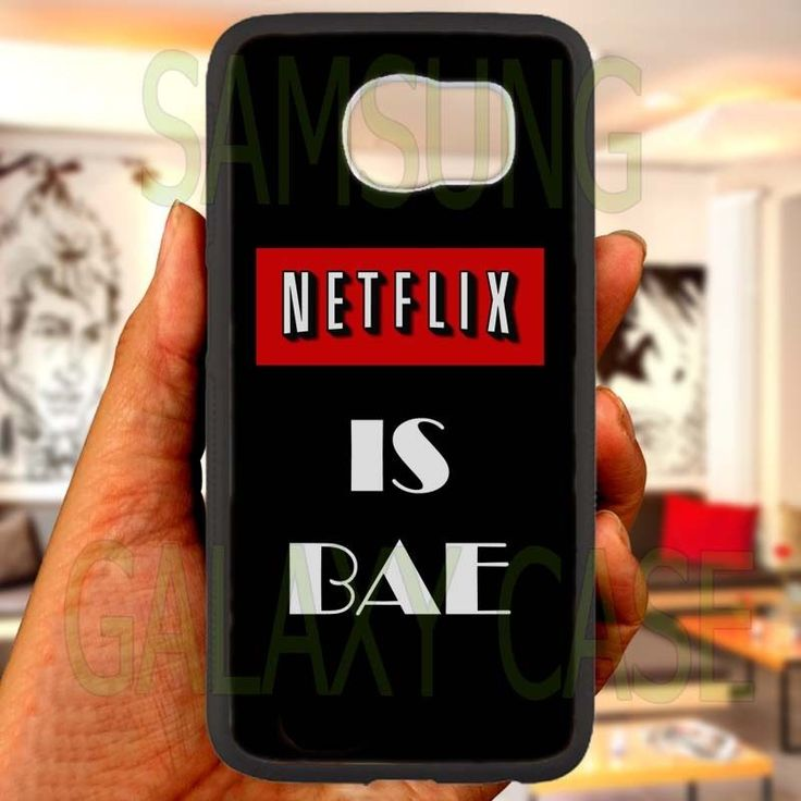 Netflix Is Bae quotes Black Samsung Galaxy S 4 5 6 Edge Note 3 4 Case Cover in Cell Phones & Accessories, Cell Phone Accessories, Cases, Covers & Skins | eBay