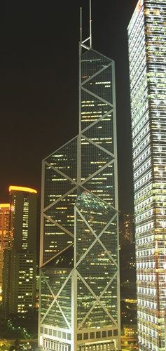 Hong Kong's Top 10 : Central's Statue Square - Bank of China Tower    Looming over the HSBC building is the imposing 70-storey Bank of China Tower. It was designed by the renowned architect I M Pei. The tower is a dizzying 368 m (1,207 ft) high.Hong Kong, Favorite Places, China Towers, Imposible 70 Storey, Discouv Hong, Hsbc Buildings, Central Banks, Ahmaaaz Design, Century Architecture