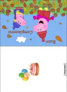 Biglietto Buon Compleanno Peppa Pig — Mondo Bimbo