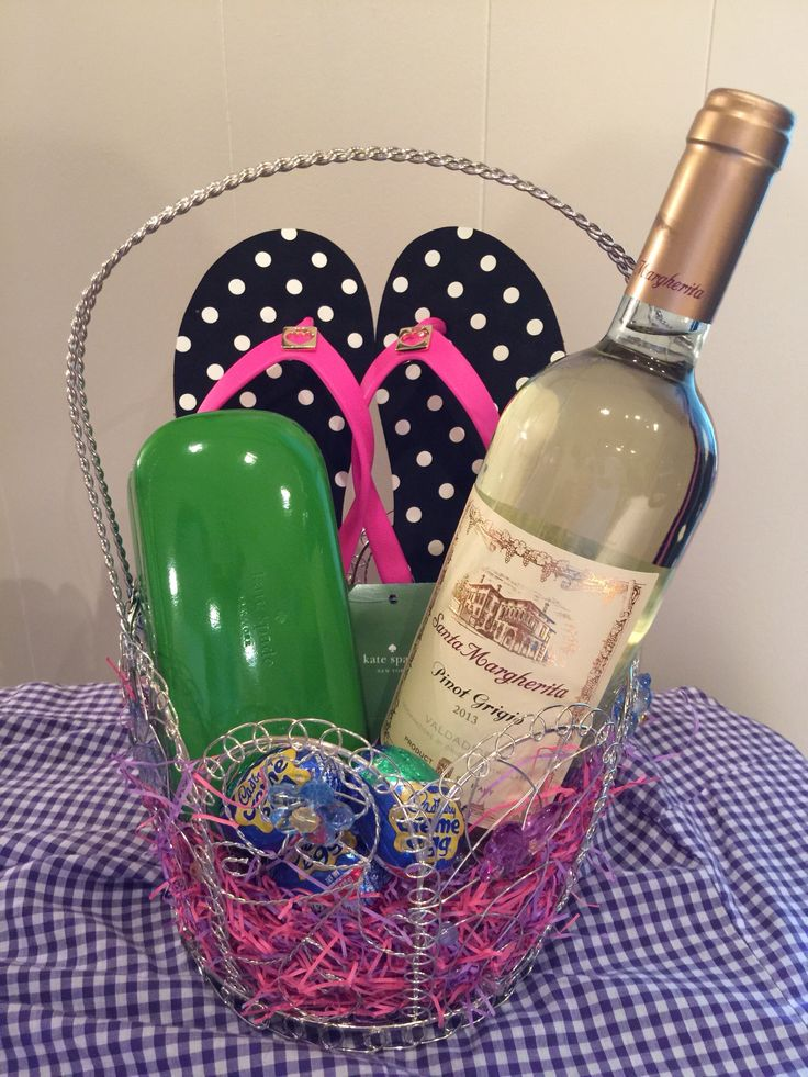 8 best easter images on pinterest easter gift baskets and easter my adult easter basket negle Images