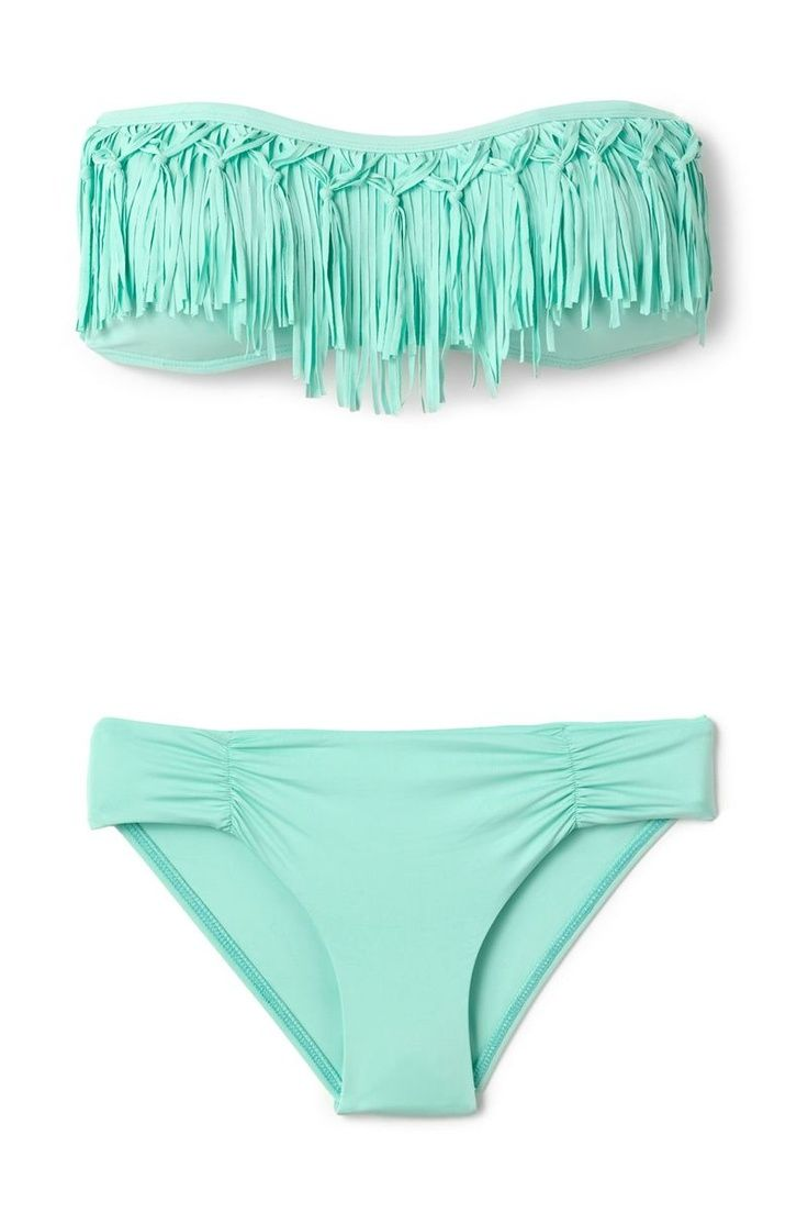 I've gotten the white one, but definitely want the teal fringe bikini!