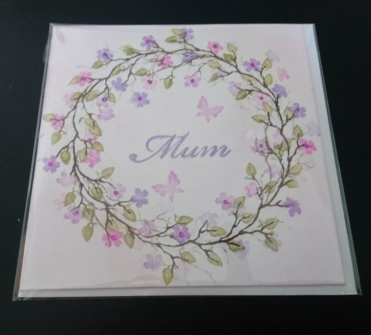 A card for Mum using Card-io stamps