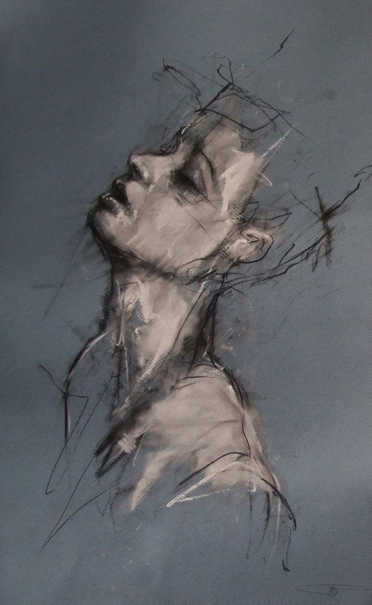 Guy Denning- structure of the human body, quick harsh brush strokes. I like the…