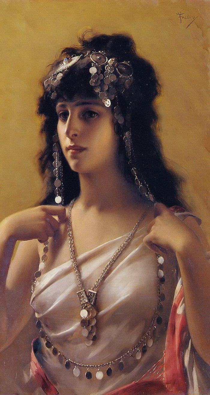Louis Ricardo Falero (1851-1896). An Oriental Beauty