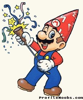 Mario birthday GIF