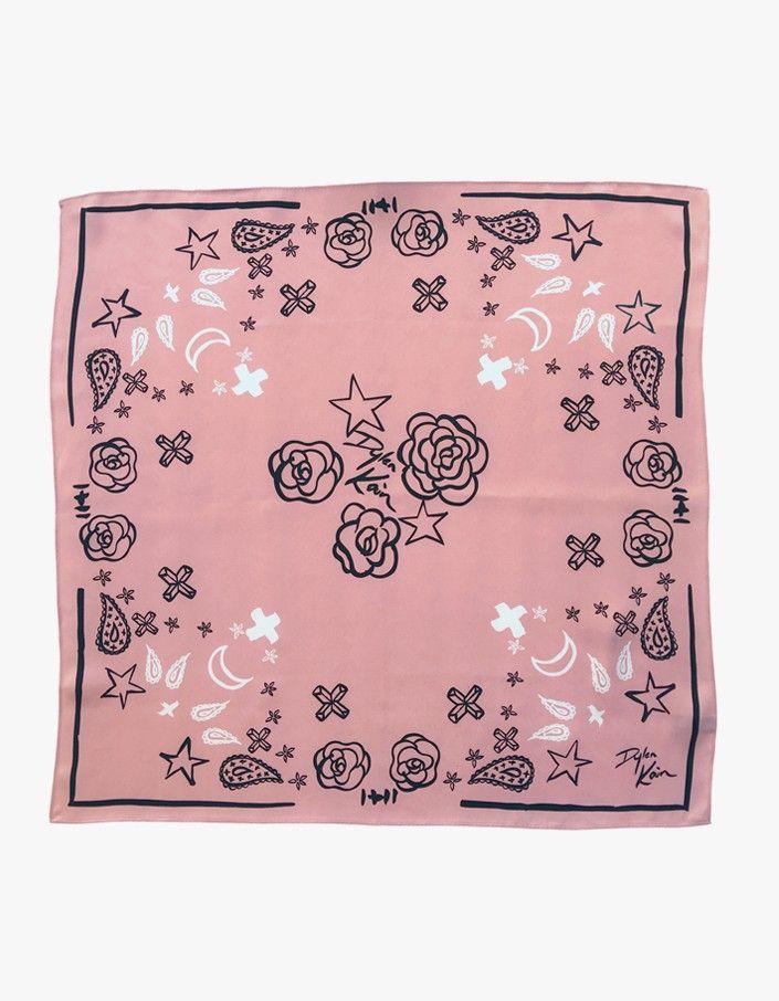 The Nicco Silk Scarf - Blush Pink