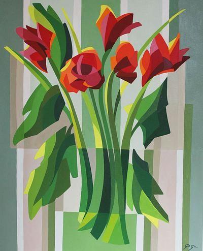 cubist roses - Поиск в Google | Aquarelle Flowers ...