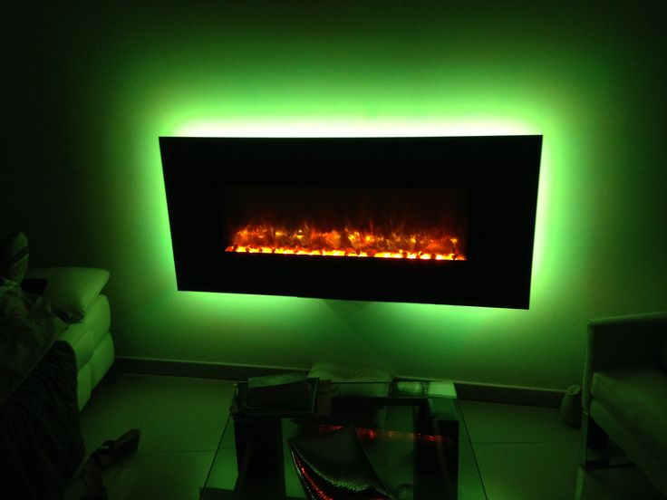 cheminee electrique design led hot color