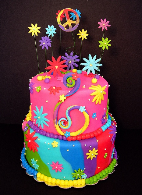 peace sign cakes | Tie Dyed Peace Sign Cake 800 | Flickr - Photo Sharing!