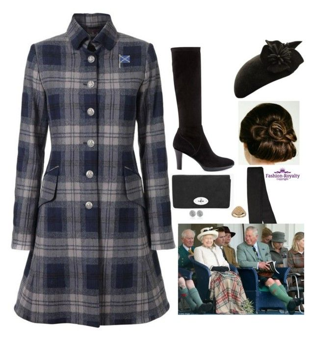"""Attending the 2014 Braemar Gathering, and later meeting with members of The Braemar Royal Highland Society at Balmoral"" by fashion-royalty ❤ liked on Polyvore featuring Balmain, Le Kilt, John Lewis, Aquatalia by Marvin K., Monica Vinader and Maria La Rosa"