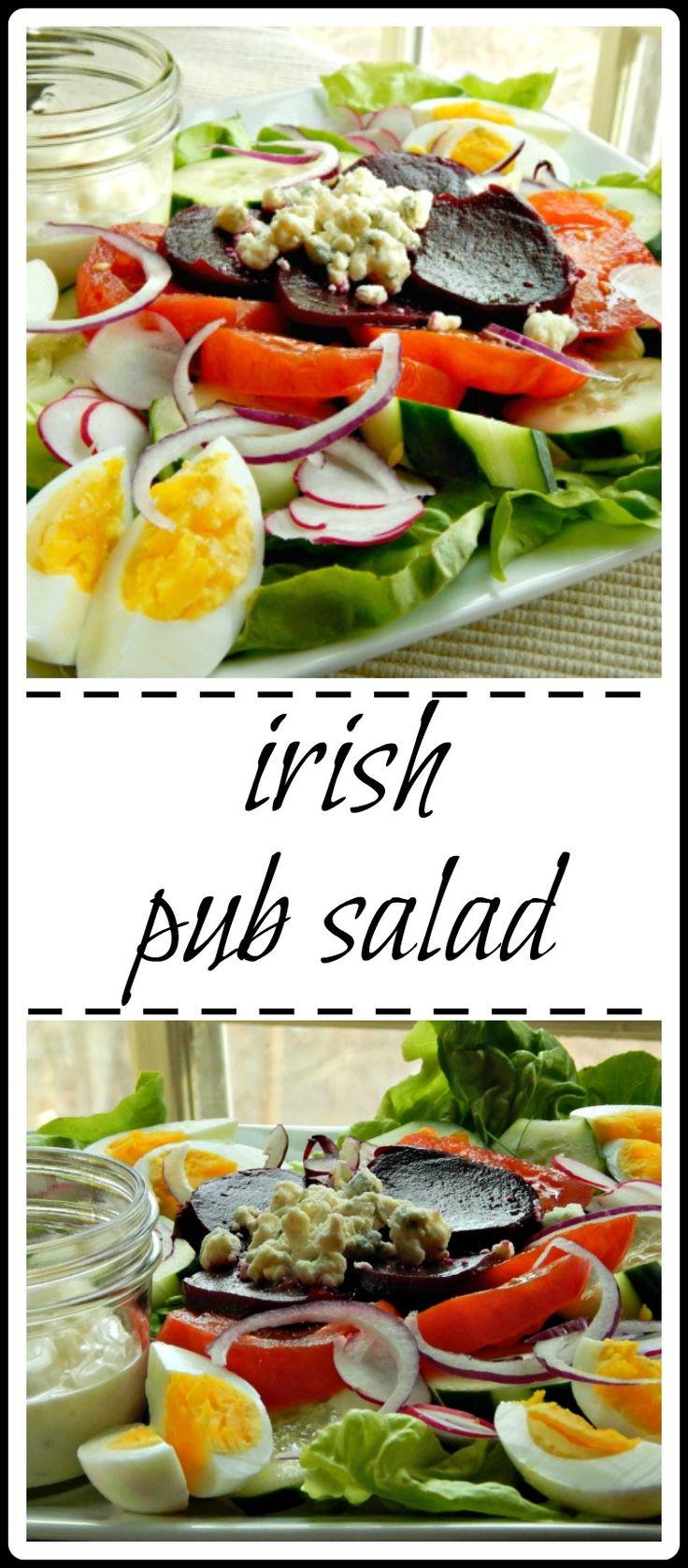 Irish Pub Salad - Full of everything good! And that dressing! OMG!