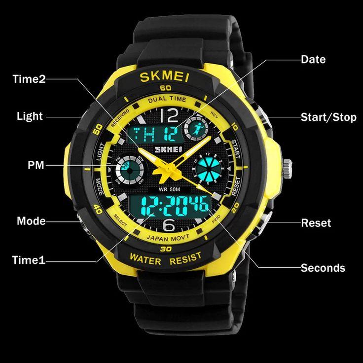 Mens Military Watch For Men Sport Watch SKMEI Luxury Brand Quartz And LED Digital Outdoor Waterproof Watches S-Shock - Intl | Lazada PH