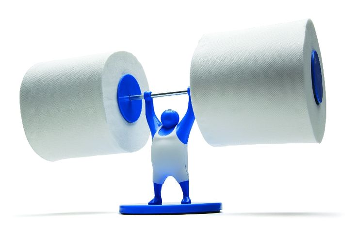 Mister T toiletrolhouder blauw