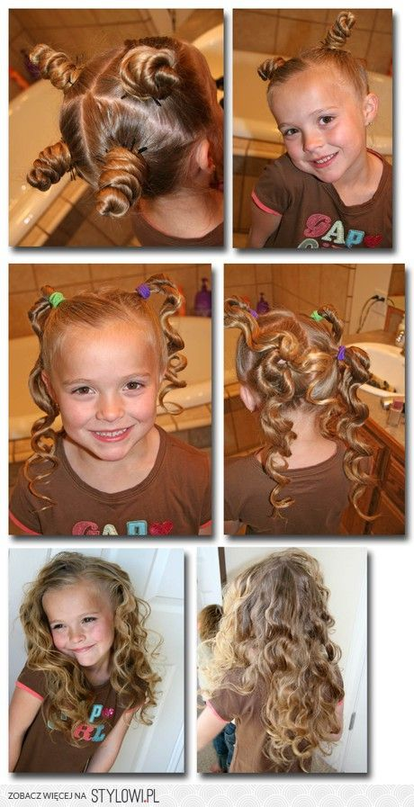 Curl without heat! For when her hair gets a little longer and hopefully thicker!