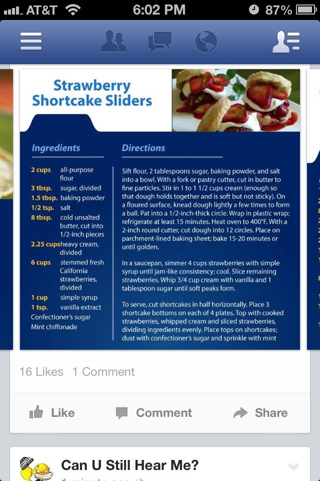 Strawberry Shortcake Sliders | Desserts | Pinterest