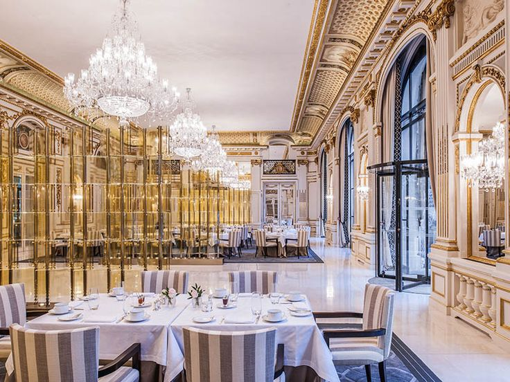 The Peninsula Hotel in Paris gleams with classic design, graceful curves and ornate trimmings that meet together in this timeless French elegance performed by classical hand blown crystal chandeliers. #light #lighting #design #crystal #interior #hotel #hospitality #Europe
