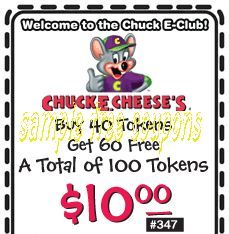 Book a Birthday Party at Chuck E Cheese's. Never miss another coupon. Be the first to learn about new coupons and deals for popular brands like Chuck E Cheese's with .