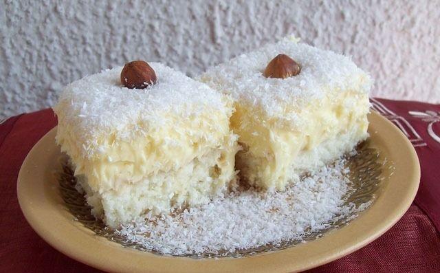 Reteta prajitura vis de cocos. O prajitura deosebita, foarte simpla cu budinca de vanilie si nuca de cocos. Gustul si aspectul sunt de vis. Crema fina cu blatul de cocos sunt combinatia castigatoare. Daca iti plac prajiturile cu cocos, reteta aceasta este perfecta pentru tine...
