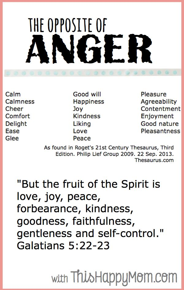 Days of Anger – The Beginning  The opposite of anger is... stuff I want to be!
