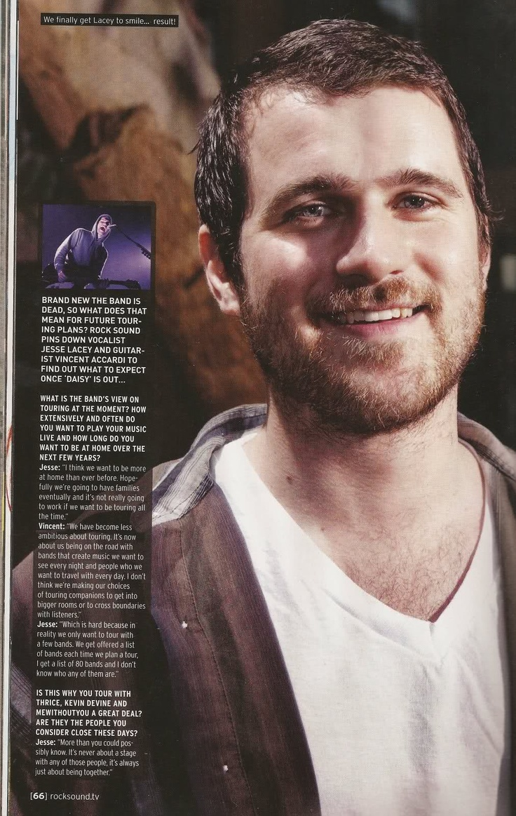 Jesse Lacey - Brand New - Just look at that face! Ugh