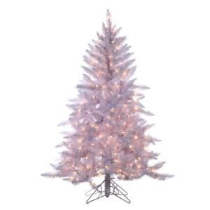 pre lit ashley white artificial christmas tree with clear lights at the home depot mobile - Home Depot White Christmas Tree