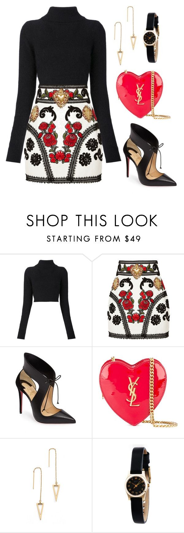 """""""Untitled #121"""" by tazkiasaras ❤ liked on Polyvore featuring Balmain, Dolce&Gabbana, Christian Louboutin, Yves Saint Laurent, Rebecca Minkoff and Marc by Marc Jacobs"""