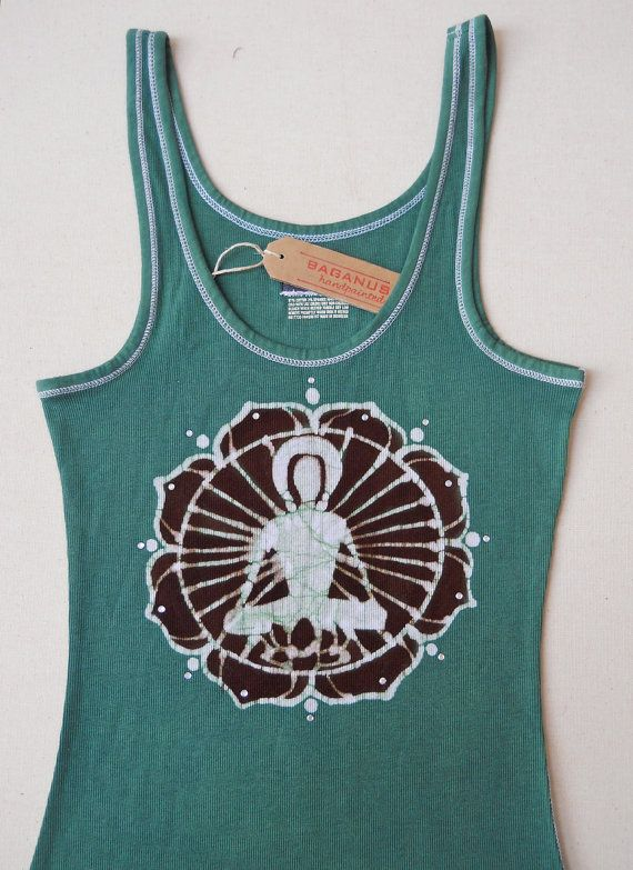 Buddha Batik yoga Tank Top Eco friendly ribbed green by BAGANUS, $29.00Meditation Buddha, Ribs Tanks, Buddha Batik, Friends Hands, Eco Friends, Batik Yoga, Yoga Tanks, Tanks Tops, Green Women