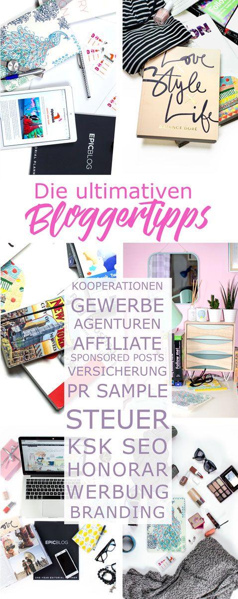 Die ultimativen Blogger-Tipps & Antworten auf deine Fragen als Blogger. Wie finde ich Kooperationen, welche Versicherung, was ist Affiliate, SEO und wie viel Steuern muss ich bezahlen? Was ist ein faires Honorar für einen Blog Post?