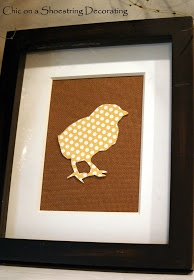 Cut out shapes with cameo and overlap on burlap for Easter