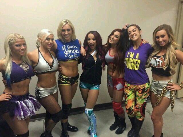 Alexa Bliss, Dana Brooke, Charlotte, Sasha Banks, Becky Lynch, Bayley, Carmella